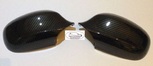 BMW 3 SERIES 08-2011 E90/E91 PAIR OF WING MIRROR COVERS IN CARBON FIBRE DIPPED (1)